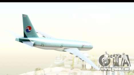 Boeing 777-200ER Korean Air für GTA San Andreas linke Ansicht