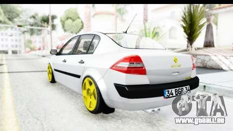 Renault Megane pour GTA San Andreas vue de droite