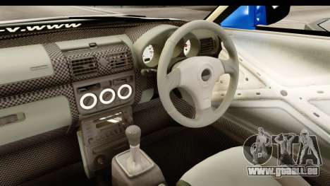 D1GP Nissan Silvia RC926 Toyo Tires für GTA San Andreas Innenansicht