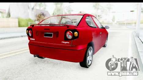 Renault Megane Coupe pour GTA San Andreas sur la vue arrière gauche