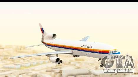 Lockheed L-1011-100 TriStar United Airlines pour GTA San Andreas sur la vue arrière gauche