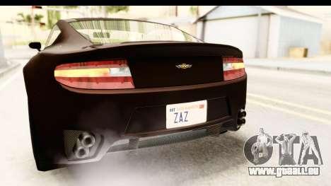 GTA 5 Dewbauchee Rapid GT SA Style pour GTA San Andreas vue de dessous