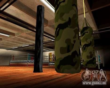 Nouveau militaire sac de boxe pour GTA San Andreas cinquième écran