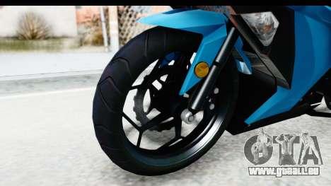 Kawasaki Ninja 300R für GTA San Andreas Rückansicht