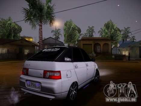 VAZ 2112 GVR qualité pour GTA San Andreas vue intérieure