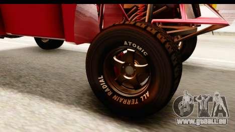 GTA 5 Desert Raid IVF für GTA San Andreas Rückansicht