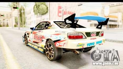 D1GP Nissan Silvia RC926 Toyo Tires für GTA San Andreas zurück linke Ansicht