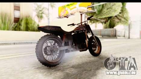 GTA 5 Western Cliffhanger Custom v1 pour GTA San Andreas sur la vue arrière gauche
