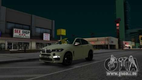 BMW X6M Bulkin Edition pour GTA San Andreas vue de droite