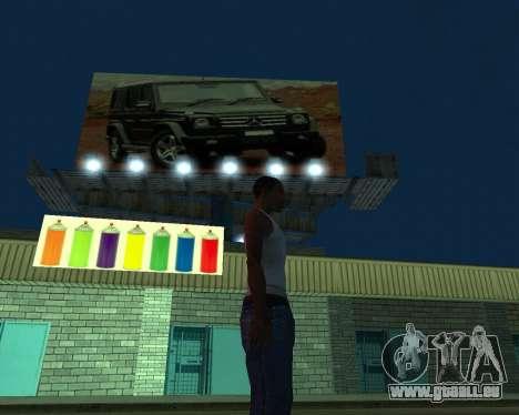 La peinture du garage pour GTA San Andreas deuxième écran