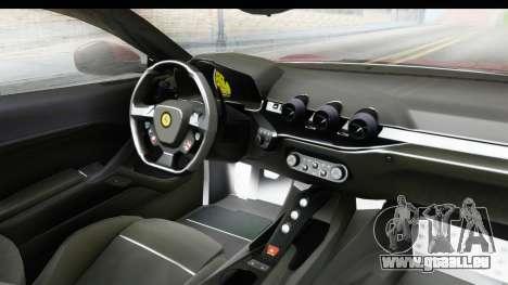 Ferrari F12 Berlinetta 2014 für GTA San Andreas Rückansicht