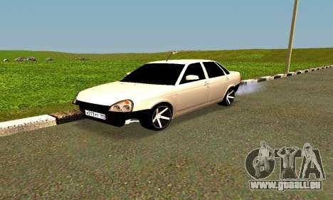 Lada Priora pour GTA San Andreas vue de côté