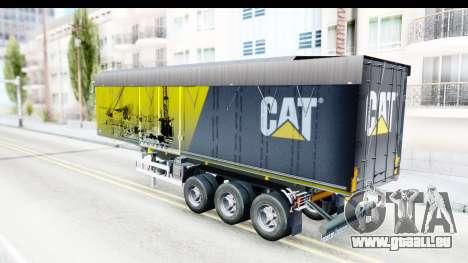 Trailer Caterpillar pour GTA San Andreas sur la vue arrière gauche