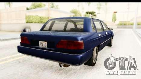 Solair Sedan pour GTA San Andreas laissé vue