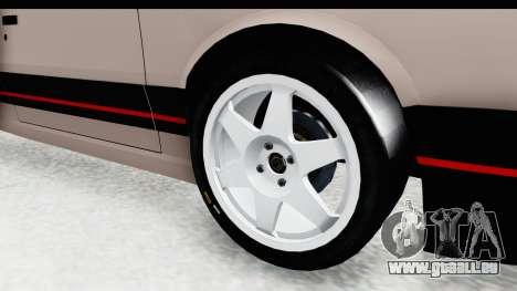Peugeot 309 GTi für GTA San Andreas Rückansicht