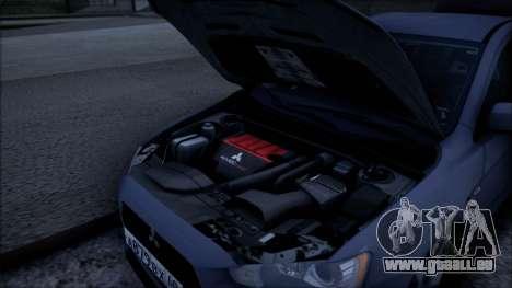 Mitsubishi Lancer GVR pour GTA San Andreas vue de droite
