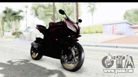 Yamaha YZF-R6 2008 für GTA San Andreas rechten Ansicht