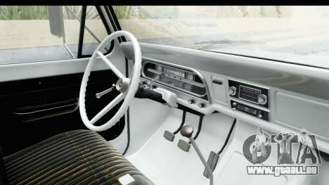 Ford F-350 Farm Truck 1970 pour GTA San Andreas vue intérieure