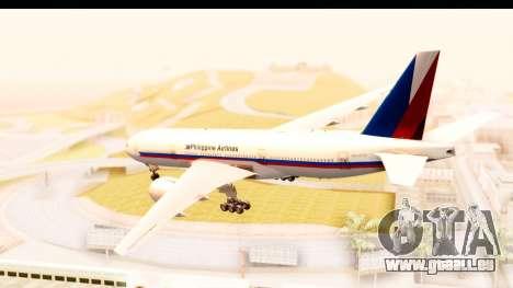 Boeing 777-200LR Philippine Airline Retro Livery pour GTA San Andreas laissé vue
