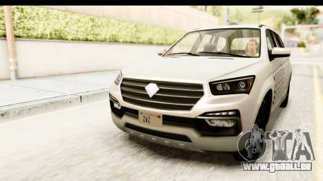 GTA 5 Benefactor XLS SA Style für GTA San Andreas Unteransicht