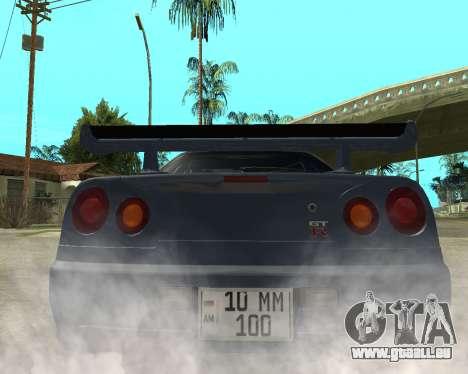 Nissan Skyline Armenia pour GTA San Andreas sur la vue arrière gauche