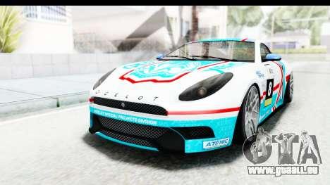 GTA 5 Ocelot Lynx IVF für GTA San Andreas Innen