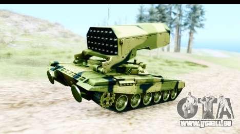 TOS-1A pour GTA San Andreas sur la vue arrière gauche