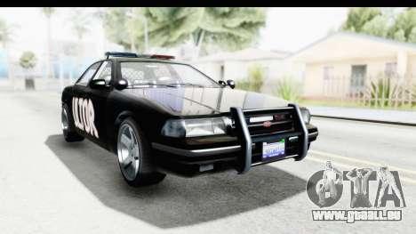 Vapid ULTOR Police Cruiser für GTA San Andreas rechten Ansicht