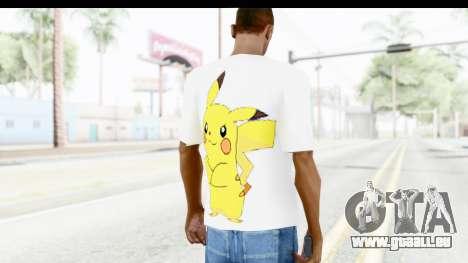 T-Shirt Pokemon Go Pikachu für GTA San Andreas zweiten Screenshot