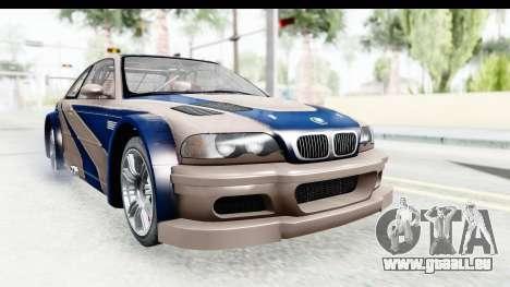 NFS Carbon - BMW M3 GTR pour GTA San Andreas sur la vue arrière gauche