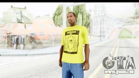 Adidas Thor T-Shirt für GTA San Andreas zweiten Screenshot
