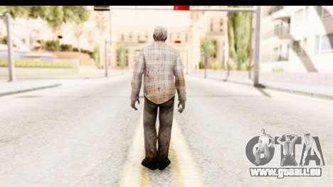 Left 4 Dead 2 - Zombie Shirt 2 für GTA San Andreas dritten Screenshot