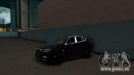 BMW X6M Bulkin Edition pour GTA San Andreas sur la vue arrière gauche