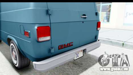 GMC Vandura 1985 White Stripes IVF pour GTA San Andreas salon