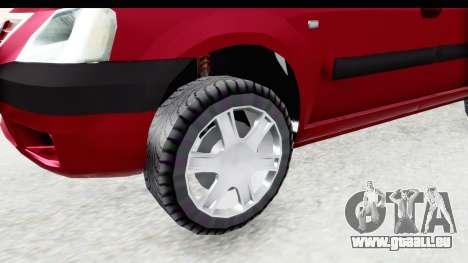 Dacia Logan MCV für GTA San Andreas Rückansicht