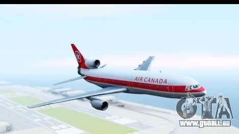 Lockheed L-1011-100 TriStar Air Canada pour GTA San Andreas sur la vue arrière gauche