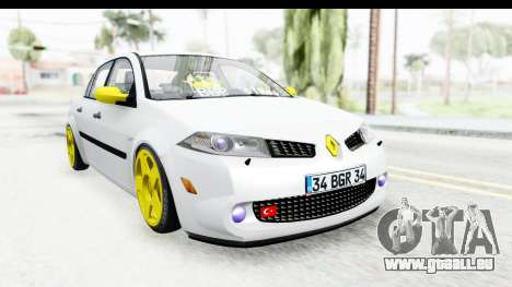 Renault Megane pour GTA San Andreas sur la vue arrière gauche