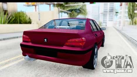 Peugeot 406 Light Tuning pour GTA San Andreas sur la vue arrière gauche