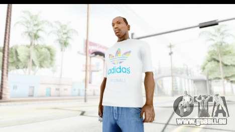Adidas White T-Shirt pour GTA San Andreas deuxième écran