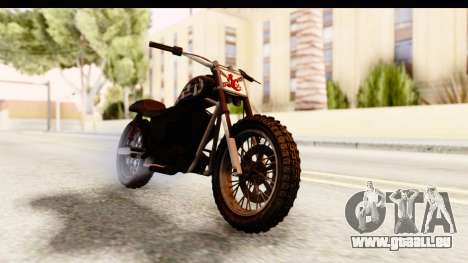 GTA 5 Western Cliffhanger Custom v1 pour GTA San Andreas vue de droite