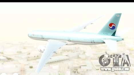 Boeing 777-200ER Korean Air für GTA San Andreas rechten Ansicht