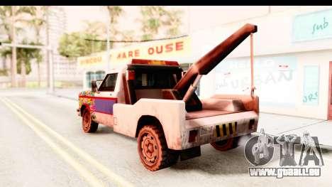 Towtruck Sticker Bomb pour GTA San Andreas laissé vue