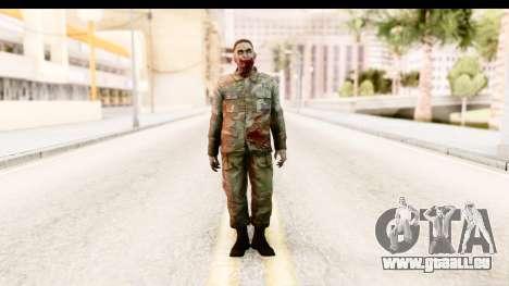 Left 4 Dead 2 - Zombie Military pour GTA San Andreas deuxième écran
