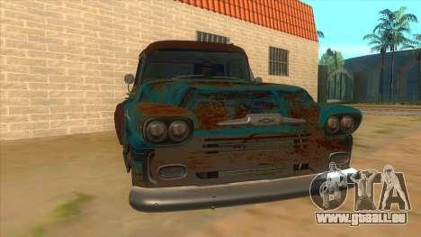 Chevrolet Apache pour GTA San Andreas vue arrière