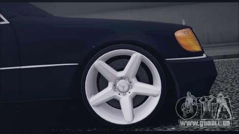 Mercedes-Benz W140 für GTA San Andreas Rückansicht