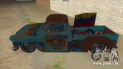 Chevrolet Apache pour GTA San Andreas laissé vue