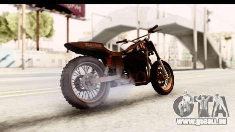 GTA 5 Western Cliffhanger Custom v2 IVF pour GTA San Andreas sur la vue arrière gauche