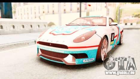 GTA 5 Ocelot Lynx für GTA San Andreas Innenansicht