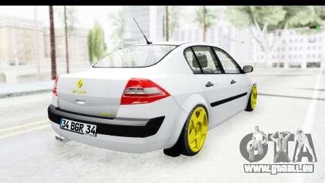 Renault Megane pour GTA San Andreas laissé vue