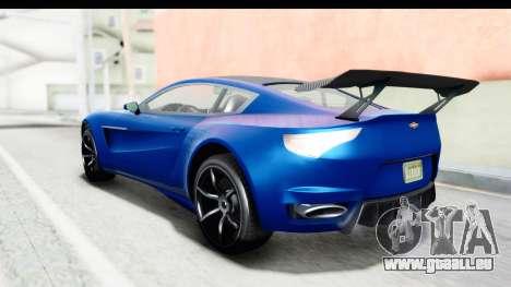 GTA 5 Dewbauchee Seven 70 für GTA San Andreas zurück linke Ansicht